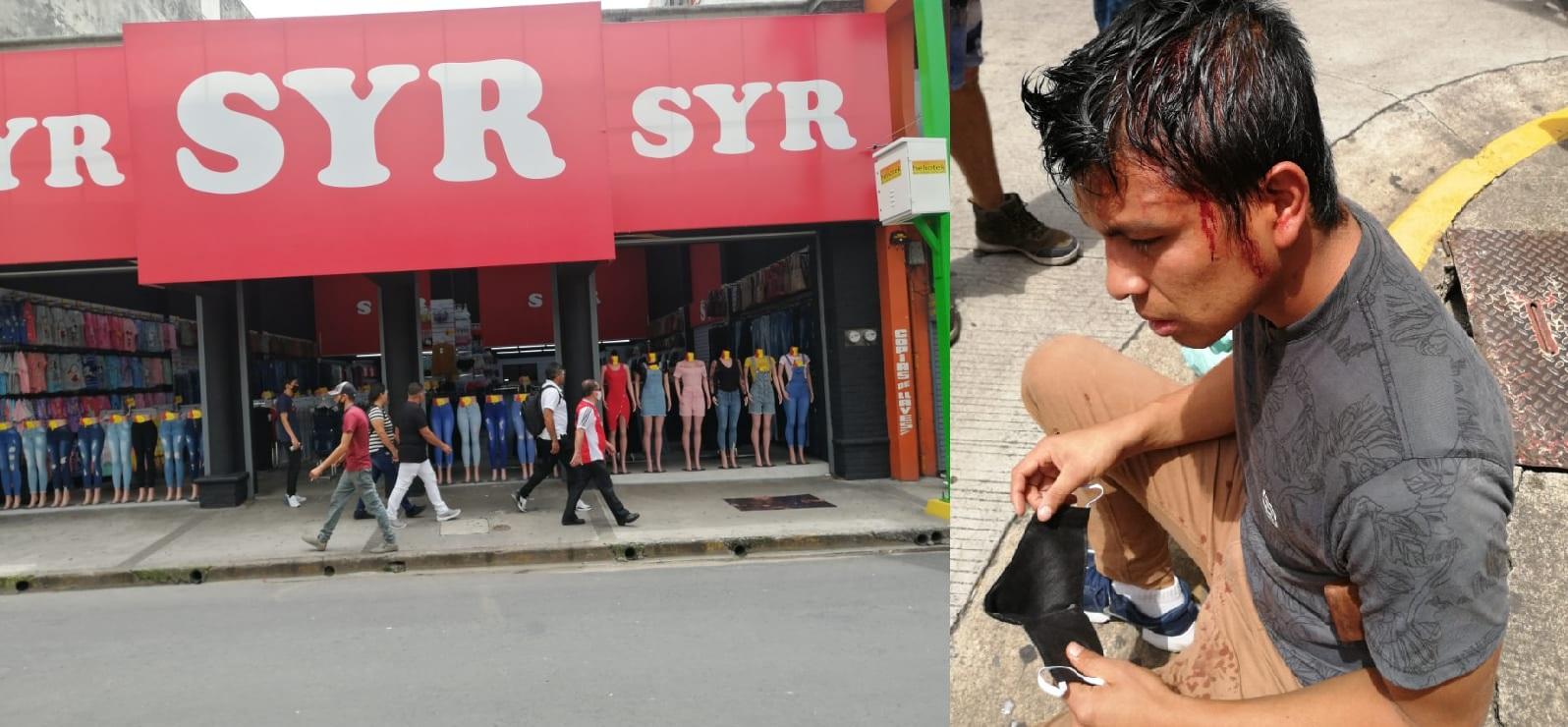 Personeros de tiendas SyR hieren gravemente y amenazan de muerte a trabajador