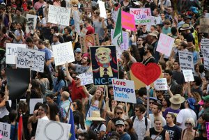 Demonstration in LA against election of Donald Trump