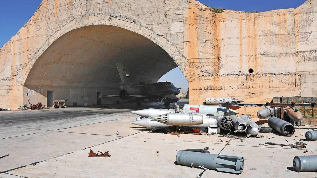 U.S. strikes Syrian military airfield