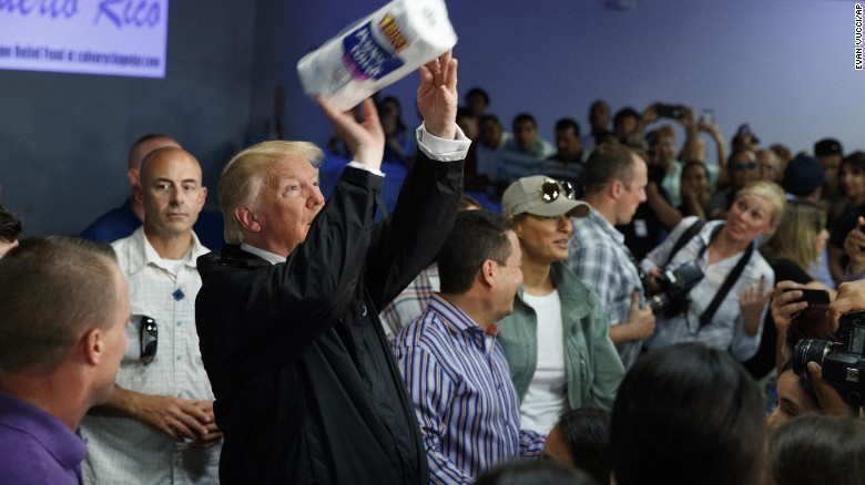 Oct. 2017 Trump paper towels