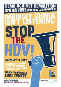 Haringey Council Are Not Listening! March and Rally against the HDV @ Ducketts Common