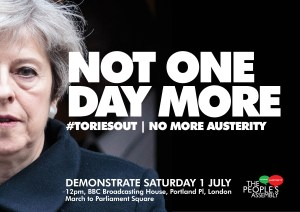 Not one day more #ToriesOut - National Demonstration @ BBC Broadcasting House
