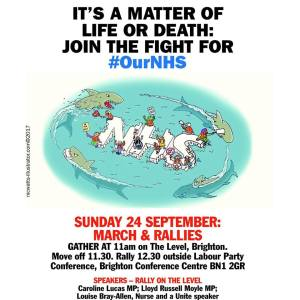Brighton NHS March & Rally at Labour Conference @ The Level