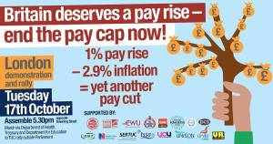 Britain Deserves A Pay Rise - end the pay cap now! @ Downing Street