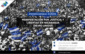 Demonstration for Justice and Freedom in Nicaragua @ Trafalgar Square