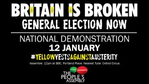 Demonstration: Britain is broken - Tories Out