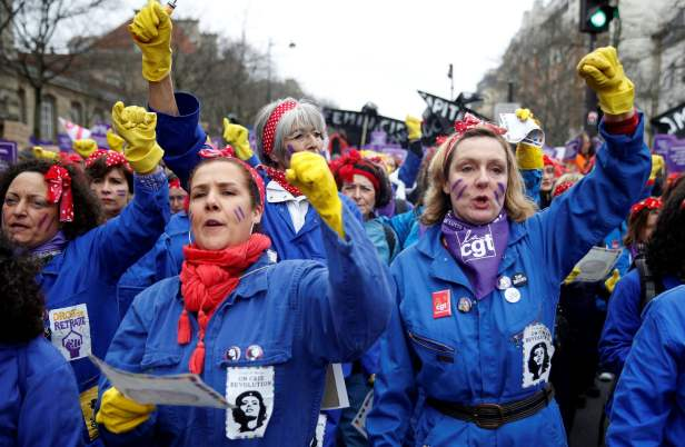 March 2020 Women Paris March 8