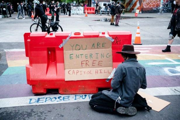 June 2020 Cap Hill barricade (David Ryder-Getty)