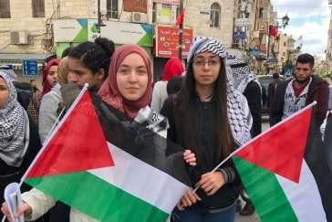 palestinian-protesters Ramallah 2017.Derek Stoffel:CBC