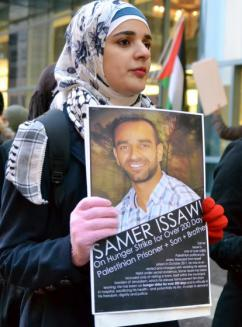 Solidarity activists marked Palestinian Prisoners Day around the country, including Chicago