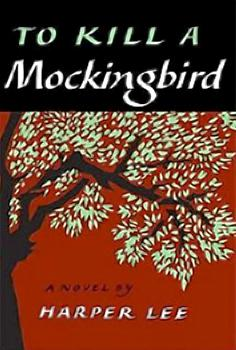 The cover of the first edition of To Kill a Mockingbird, published in 1960