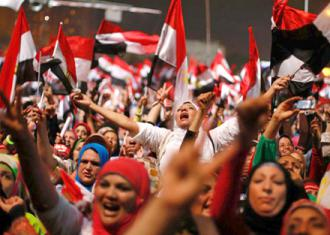 Protesters rejoice as Mohamed Morsi and his Muslim Brotherhood government are toppled