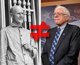 Bernie Sanders is no Eugene V. Debs