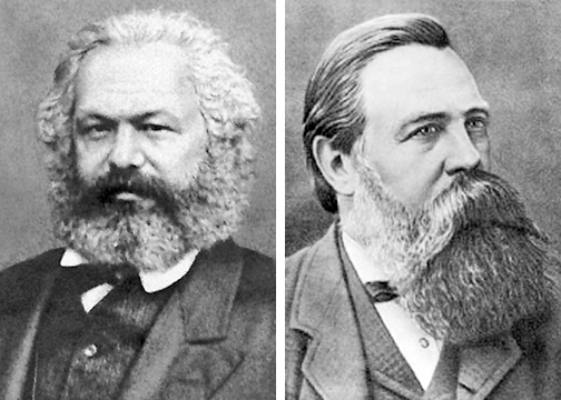 Image result for marx and engels