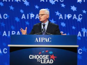 AIPAC CEO Howard Kohr speaks at a 2018 policy conference