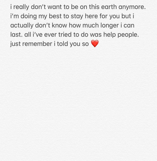 Pete Davidson Instagram message