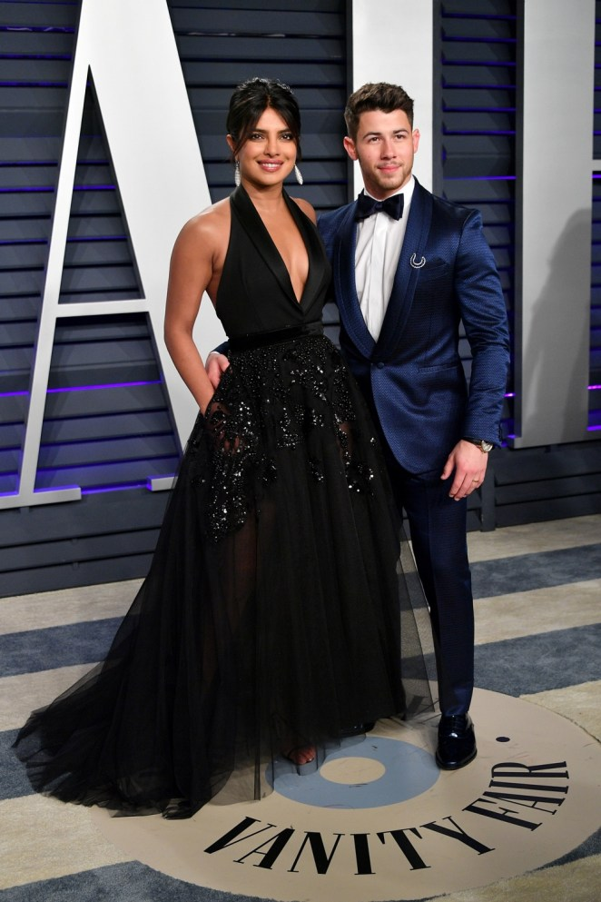Priyanka Chopra and Nick Jonas 2019 Vanity Fair Oscar Party Hosted By Radhika Jones - Arrivals