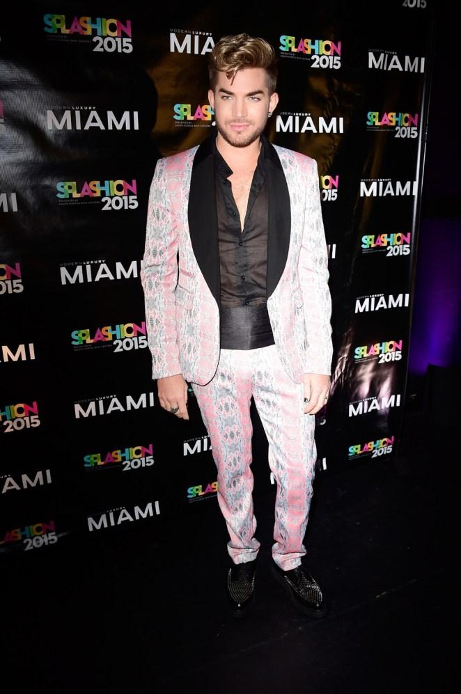 Adam Lambert Miami Magazine's Splashion At Fillmore Miami Beach