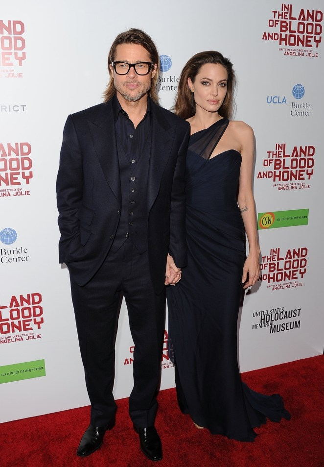 """Brad Pitt and Angelina Jolie Premiere Of FilmDistrict's """"In The Land Of Blood And Honey"""" - Arrivals"""