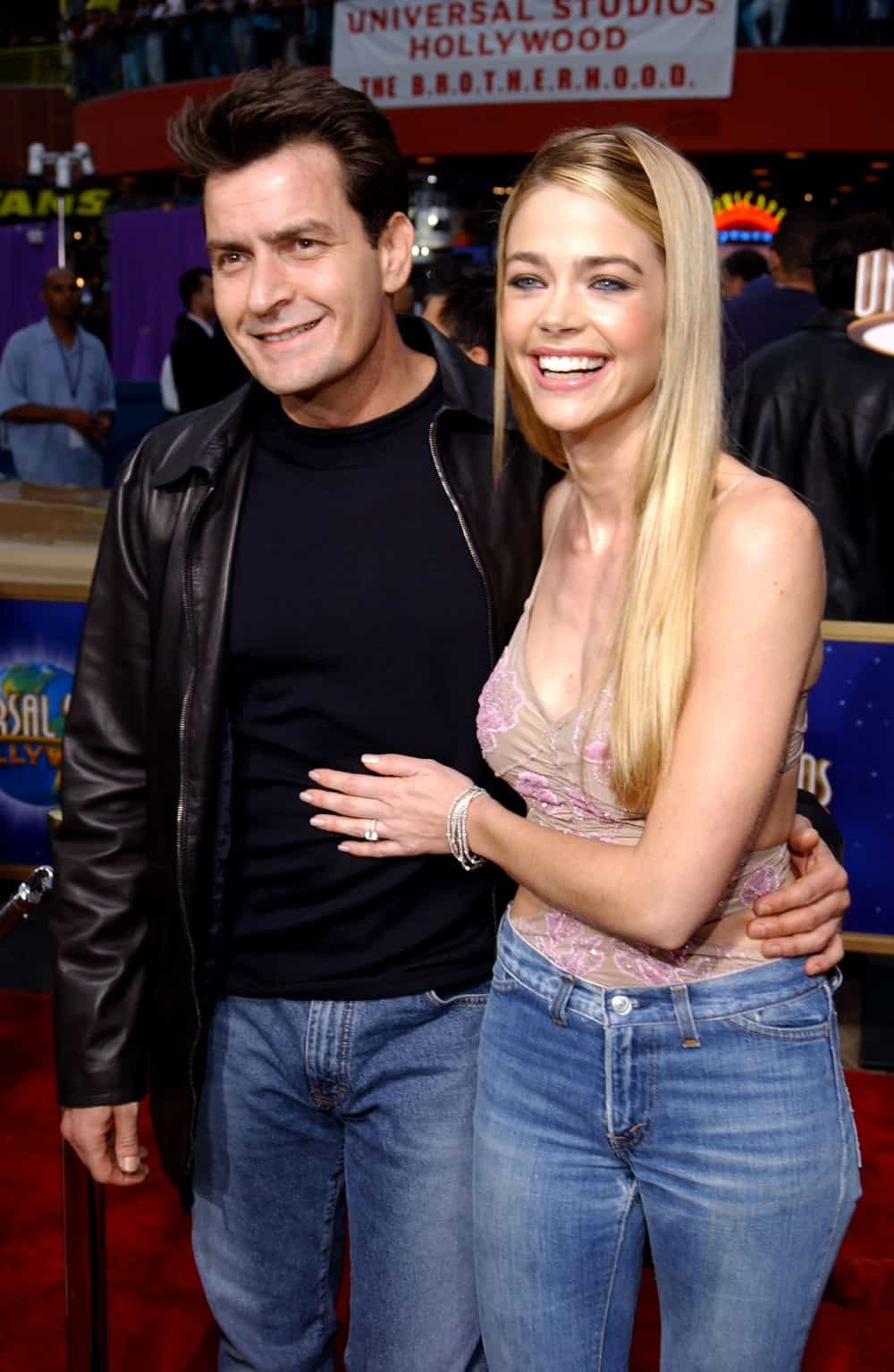 Charlie Sheen and Denise Richards World Premiere Of Undercover Brother