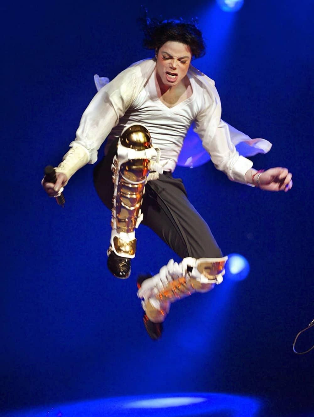 US singer Michael Jackson performs durin