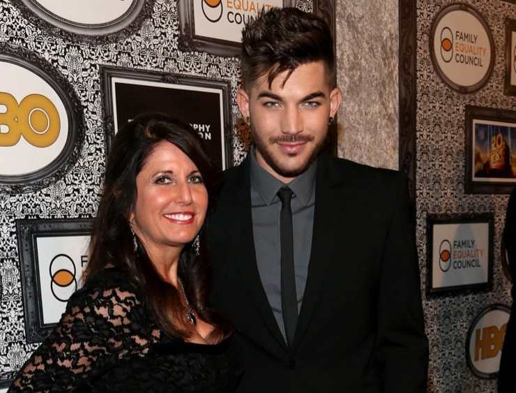 Adam Lambert and his mother Leila Family Equality Council's Annual Los Angeles Awards Dinner