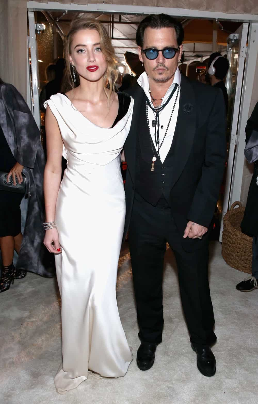 Johnny Depp and Amber Heard The Art Of Elysium And Samsung Galaxy Present Marina Abramovic's HEAVEN - Silent Cocktail Hour