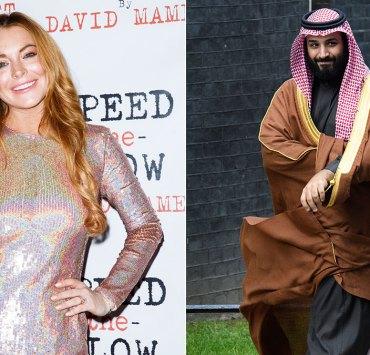 Lindsay Lohan and Mohammad bin Salman