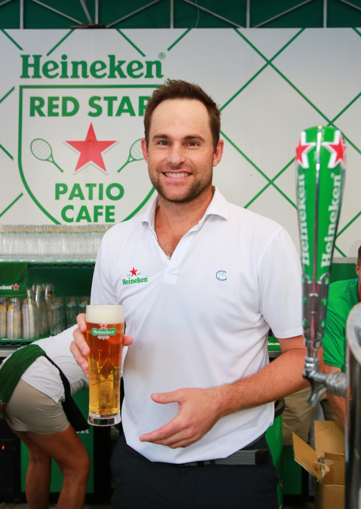 A View from the Heineken Red Star Patio Cafe during the U.S. Open