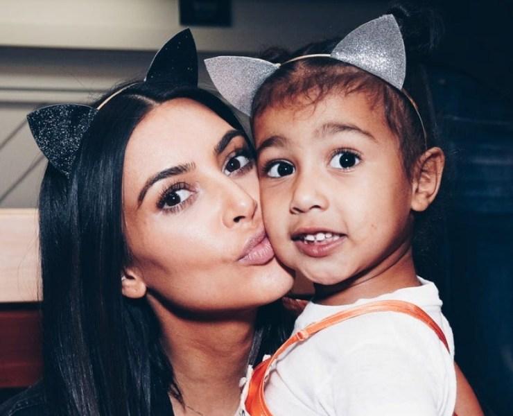 Kim Kardashian and North West