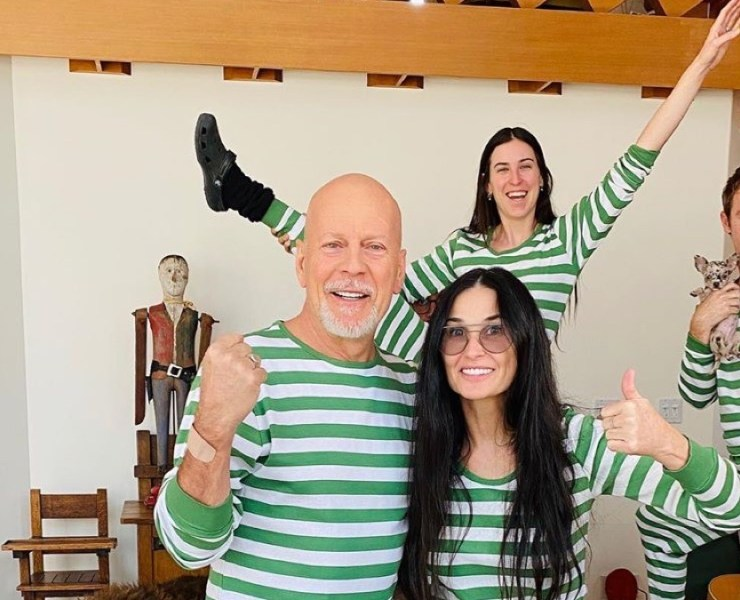 Demi Moore, Bruce Willis and the Kids