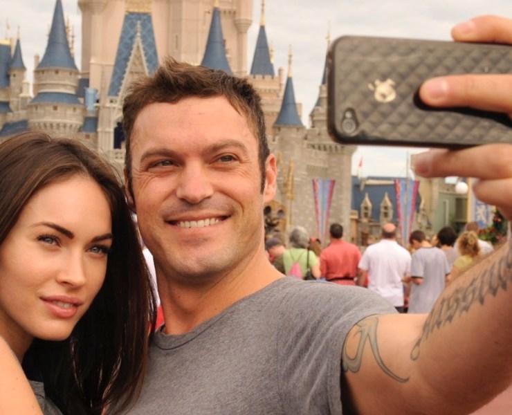 Megan Fox And Brian Austin Green Visit Disney World