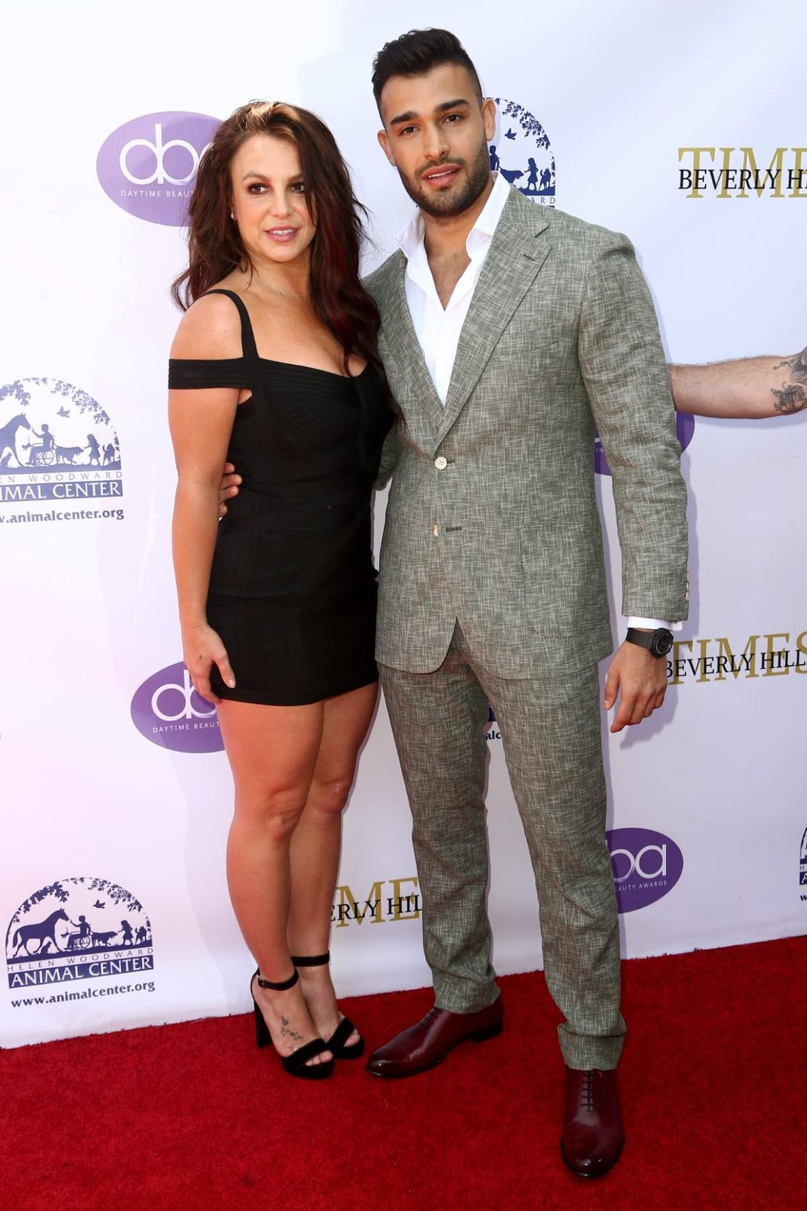 Britney Spears and Sam Asghari 2019 Daytime Beauty Awards