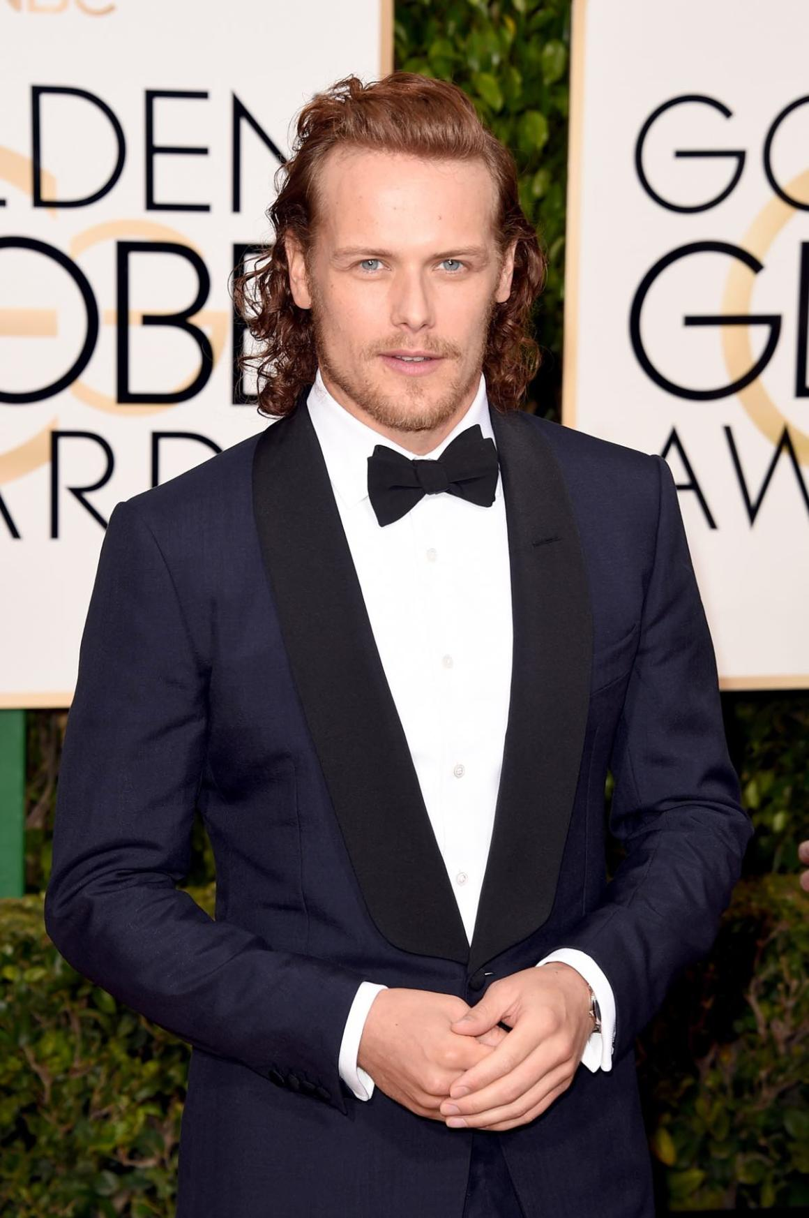 Sam Heughan attends the 73rd Annual Golden Globe Awards - Arrivals