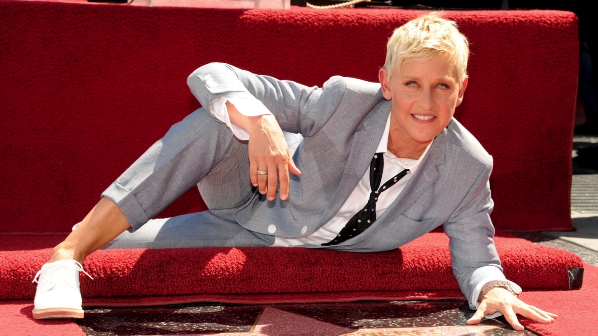 Ellen DeGeneres Honored On The Hollywood Walk Of Fame