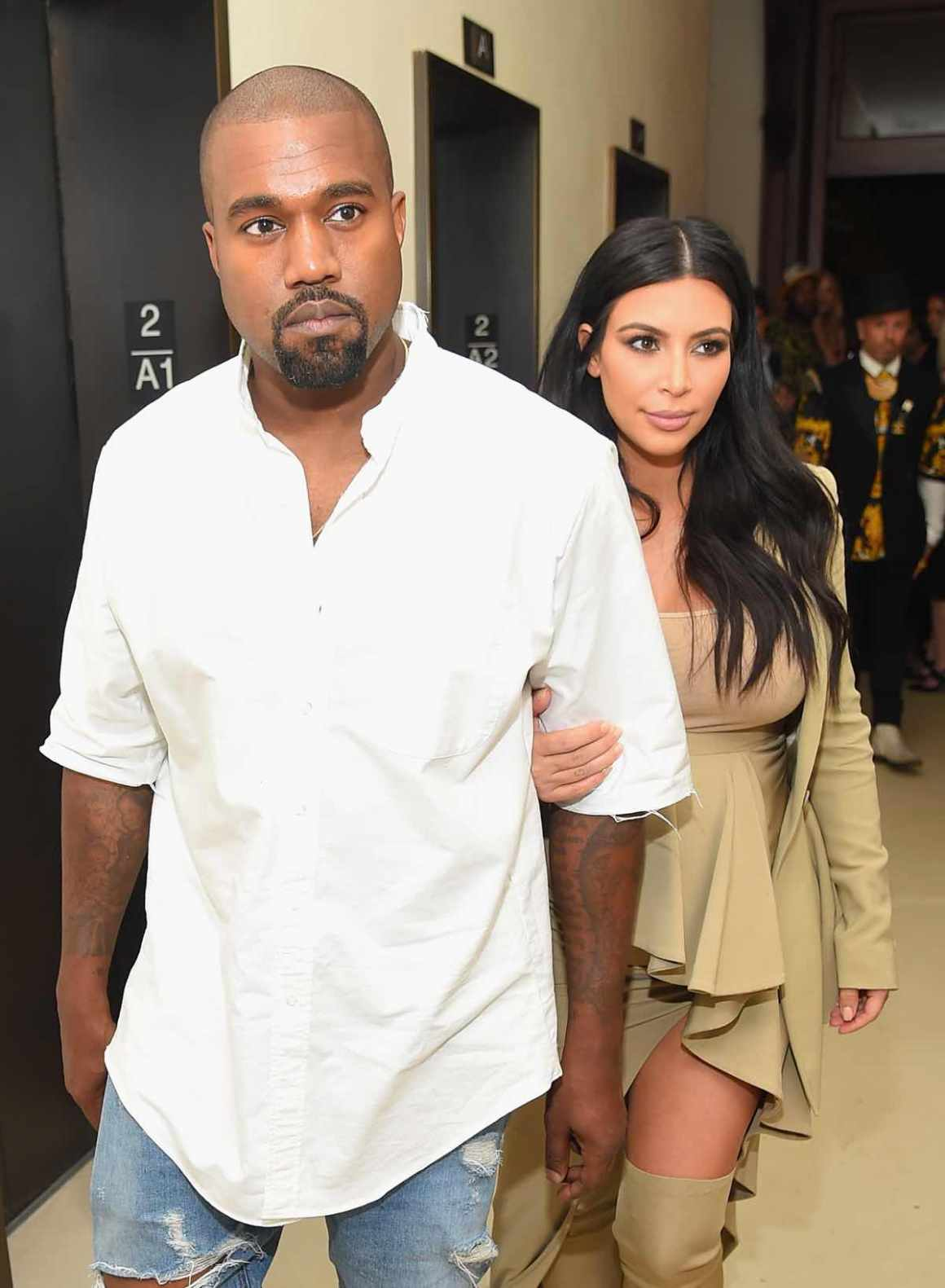 Kanye West and Kim Kardashian Rihanna Party At The New York EDITION