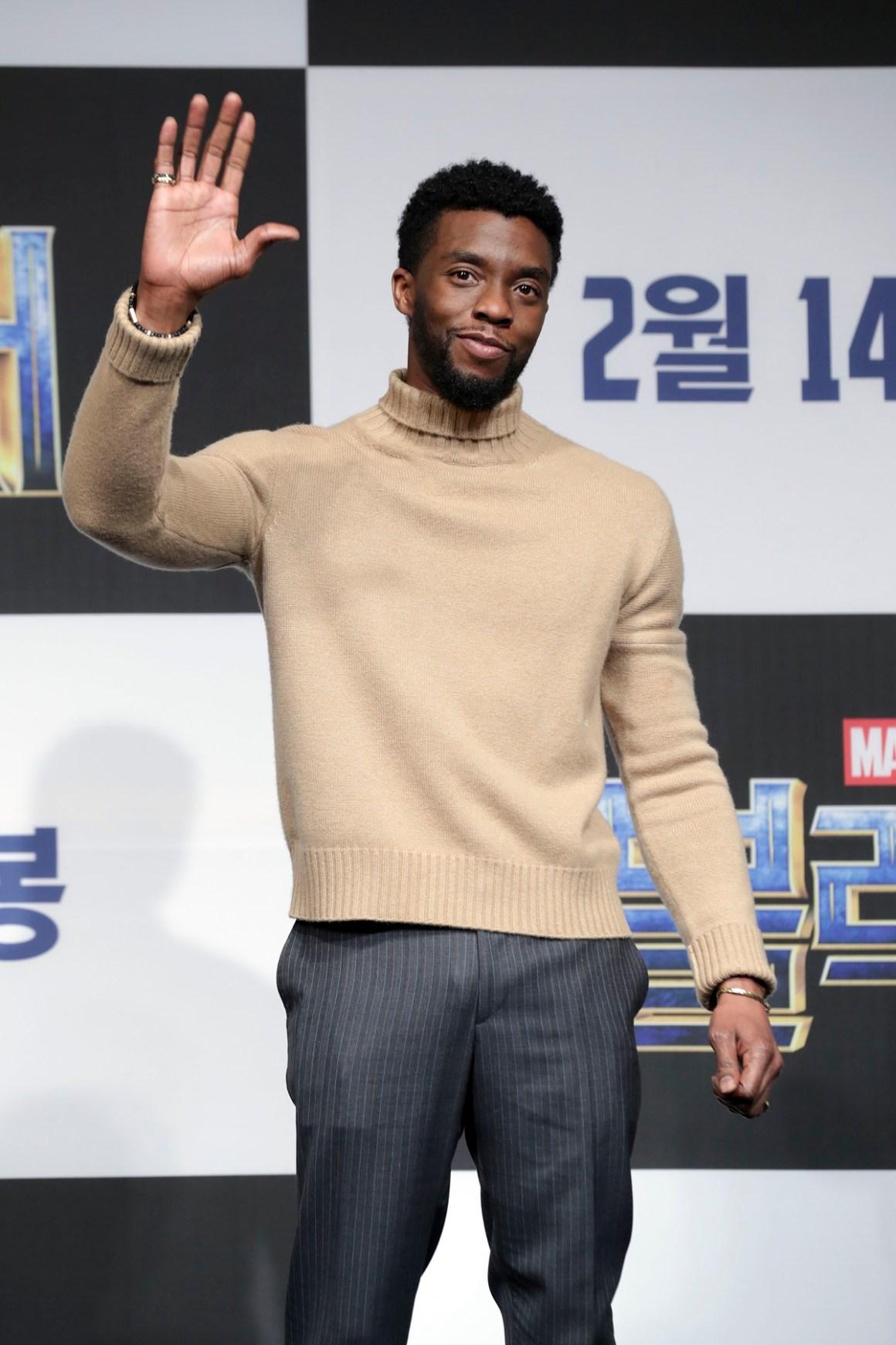 Chadwick Boseman 'Black Panther' Seoul Premiere - Press Conference