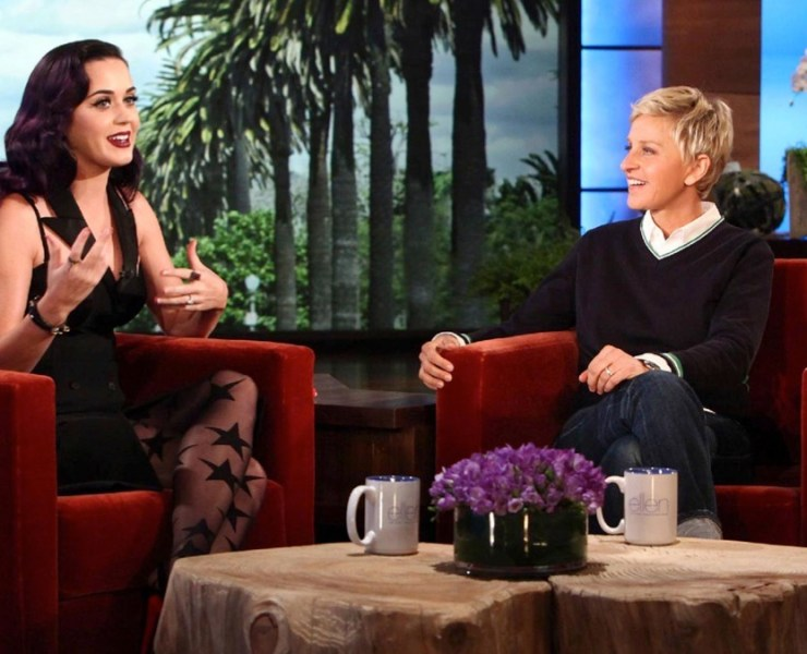 Katy Perry appears on The Ellen DeGeneres Show