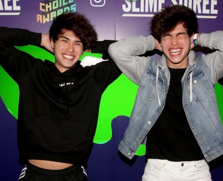 Alan and Alex Stokes 2019 Nickelodeon Kids' Choice Awards Slime Soiree