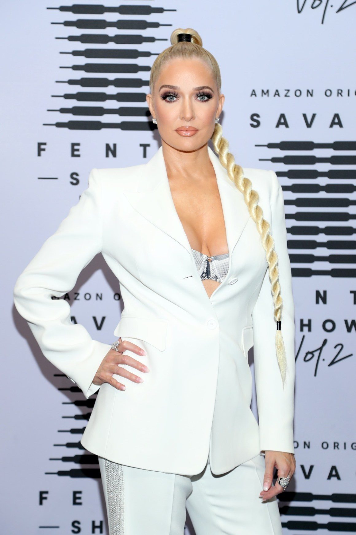 Erika Jayne Rihanna's Savage X Fenty Show Vol. 2 presented by Amazon Prime Video Step and Repeat