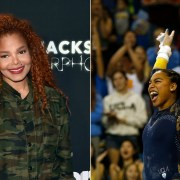 Janet Jackson and UCLA gymnast Margzetta Frazier
