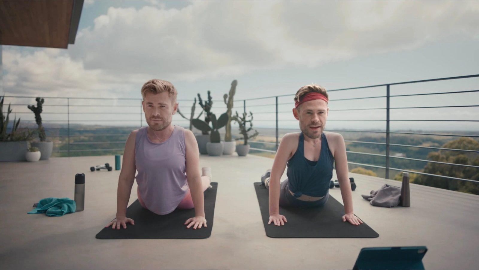 Chris Hemsworth pokes fun at himself in new Centr fitness app ad