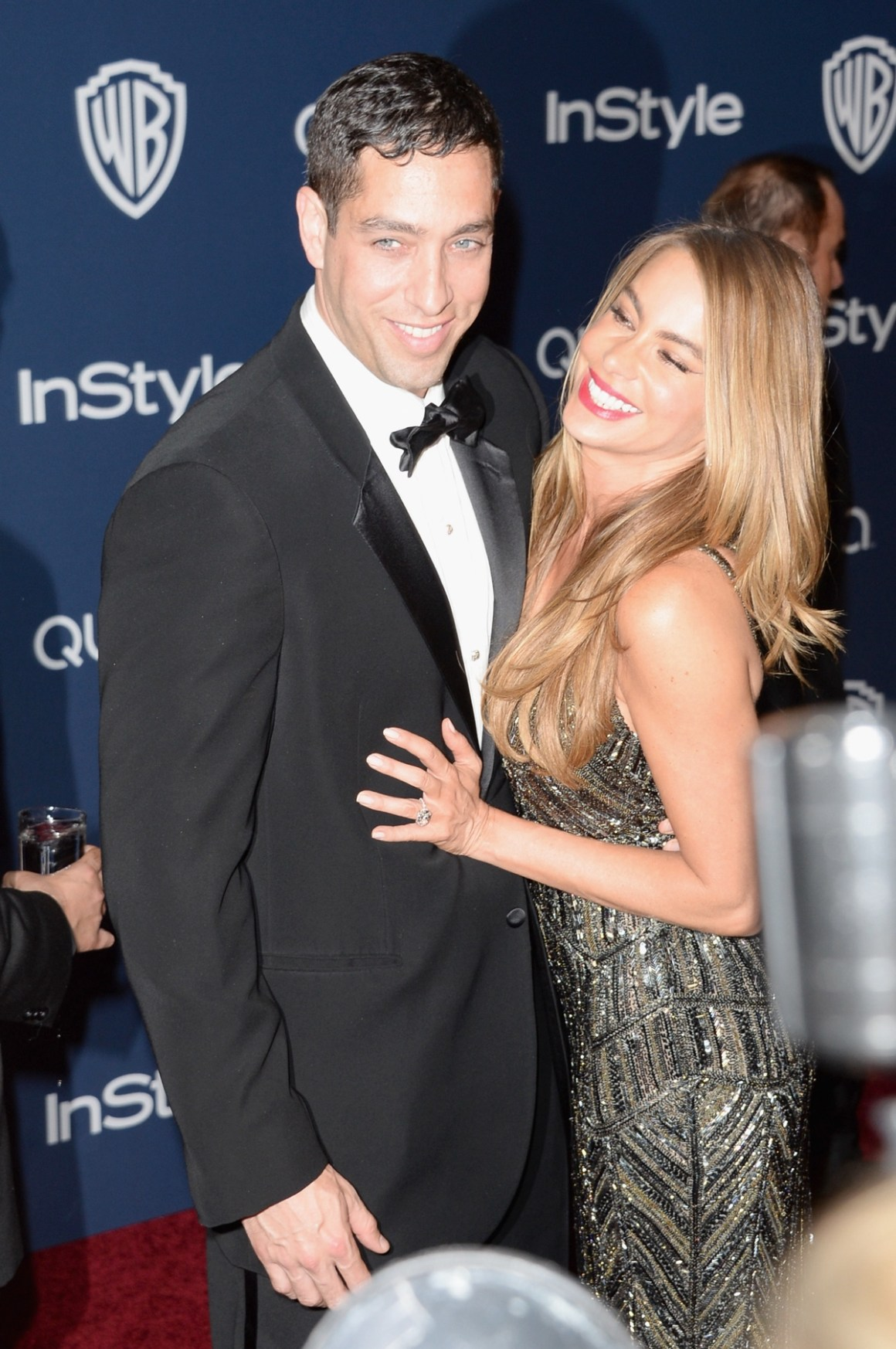 Sofia Vergara and Nick Loeb 2014 InStyle And Warner Bros. 71st Annual Golden Globe Awards Post-Party - Arrivals