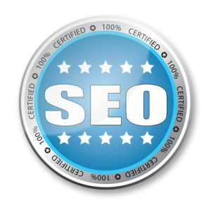 Round Sign that says certified SEO