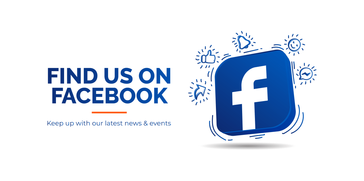 Find Us On Facebook | Keep up with our latest news & events