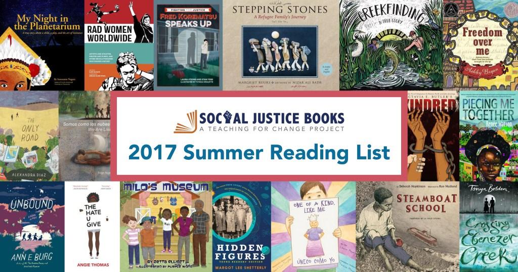 2017 Summer Reading List - Social Justice Books
