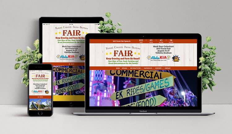 responsive website design social