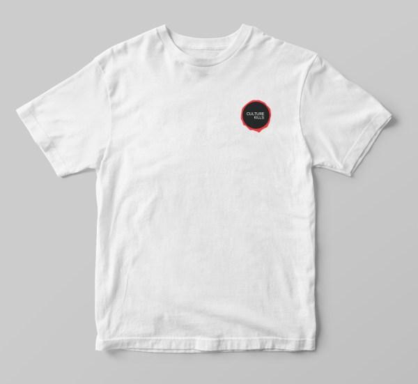 Social Living Culture Kills Graphic Chest Print Logo Shirt Tee