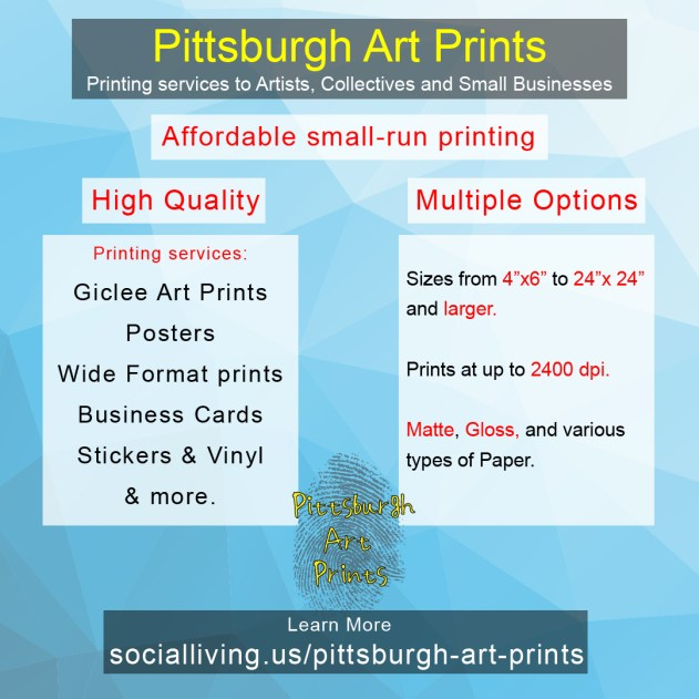 Pittsburgh Art Prints Services giclee small run printing
