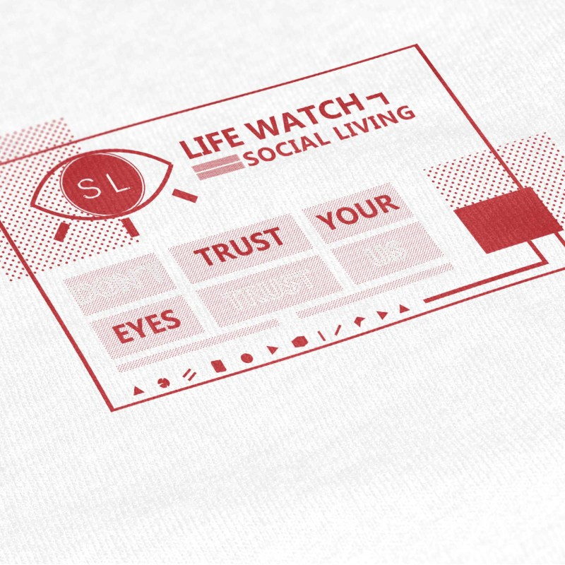 Social Living_Close-Up Graphic T Shirt Mockup_Life Watch